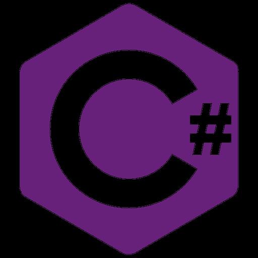Csharp Icon of Flat style.