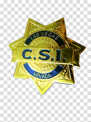 Forensics Tv Shows Brushs, Las Vegas C.S.I. badge.