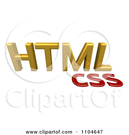 Clipart 3d Gold And Red HTML CSS Style Sheet Language.