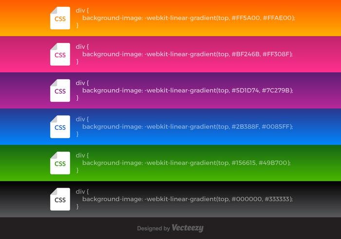 Free Vector CSS Linear Gradients.