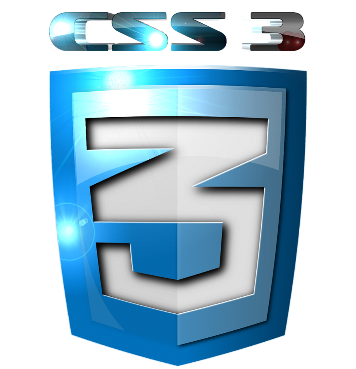 Css3 Icon 2D Blue Flash PNG.