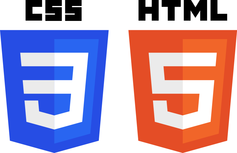 File:CSS3 and HTML5 logos and wordmarks.svg.