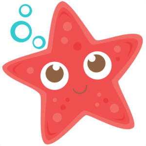 Cute starfish clipart.