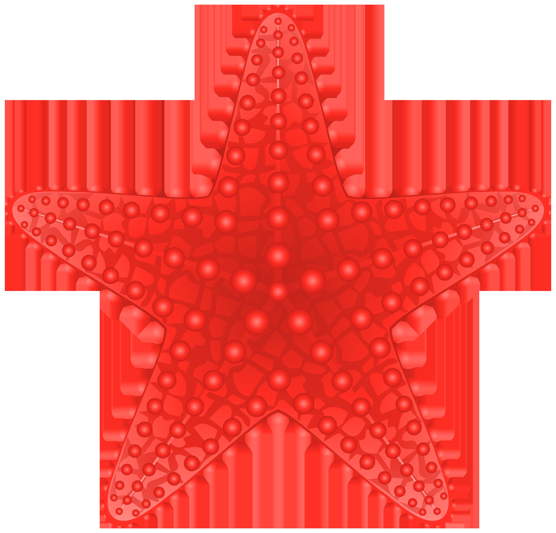 Starfish transparent clip art image.