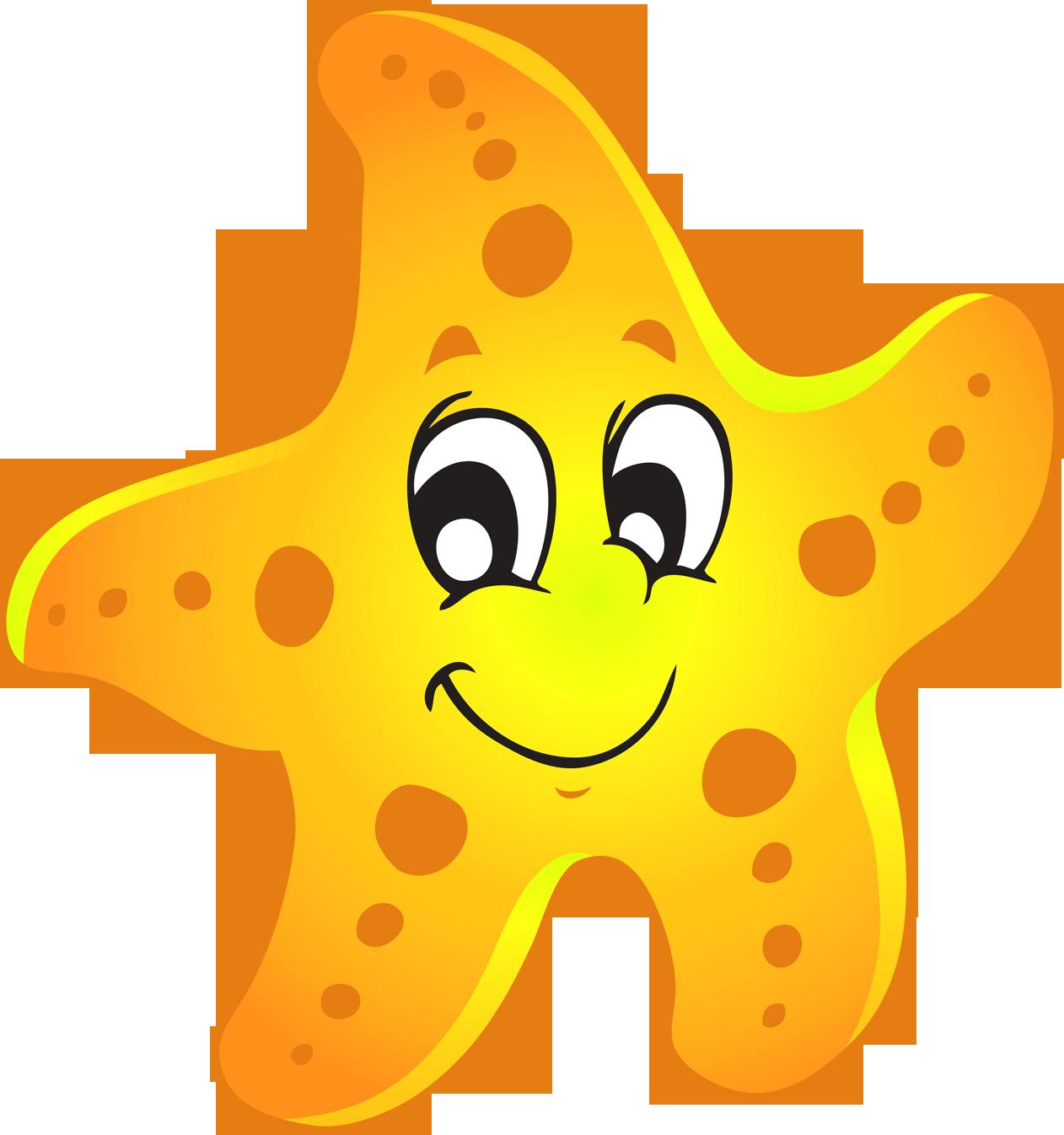 Baby starfish clipart.