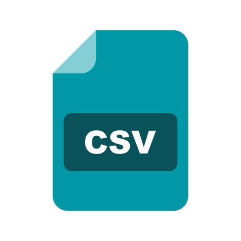 CSV Vector Icon.