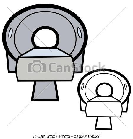 Vector Illustration of CT Scanner.