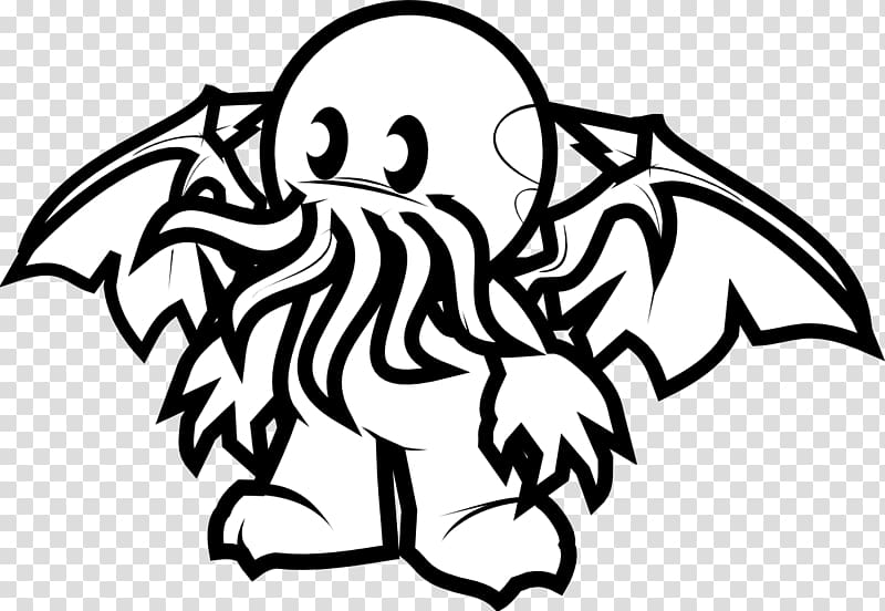 Cthulhu Drawing Character , cthulhu transparent background.