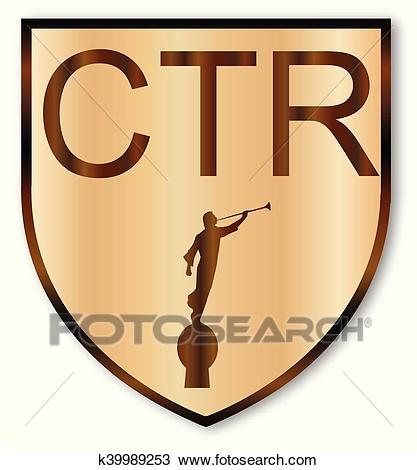 CTR Wooden Shield Clipart.
