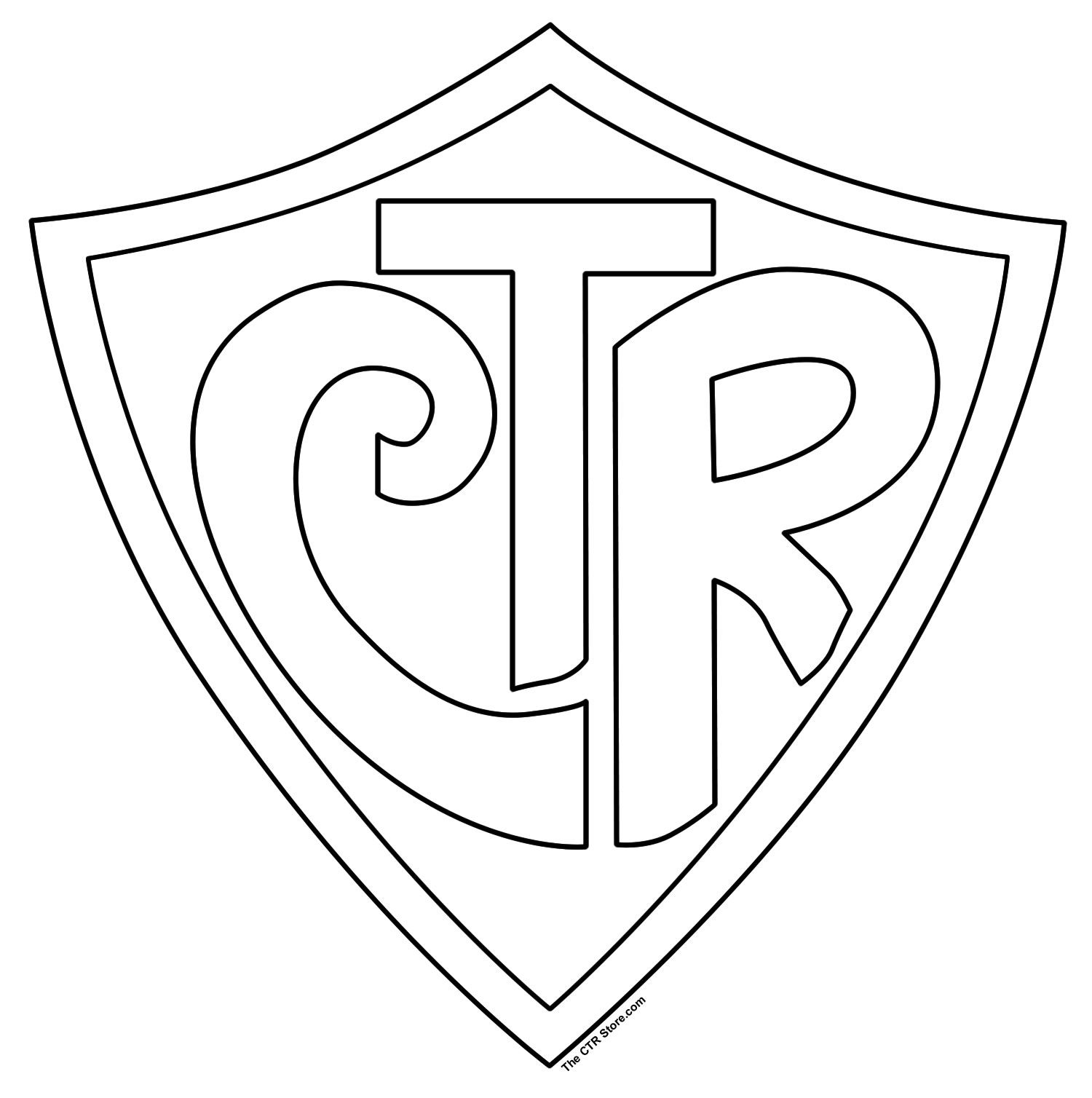 CTR Shield Coloring Page.