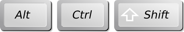 how to control alt delete in french keyboard