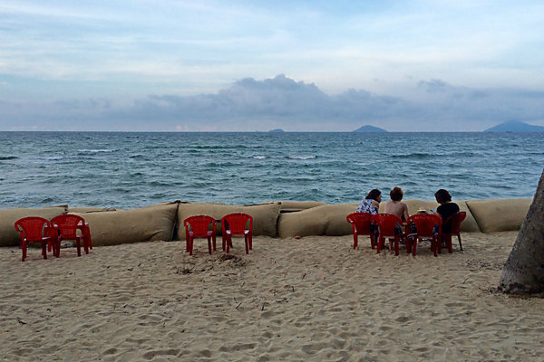 Vietnam battles erosion of beaches.