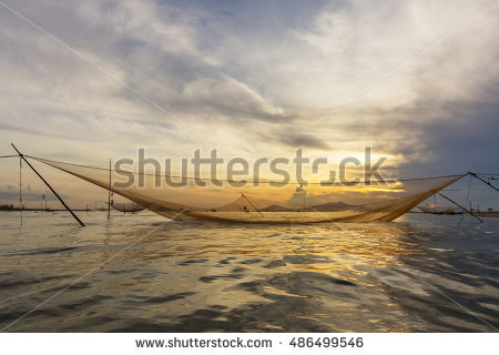 Vietnamese Fishing Net Stock Photos, Royalty.