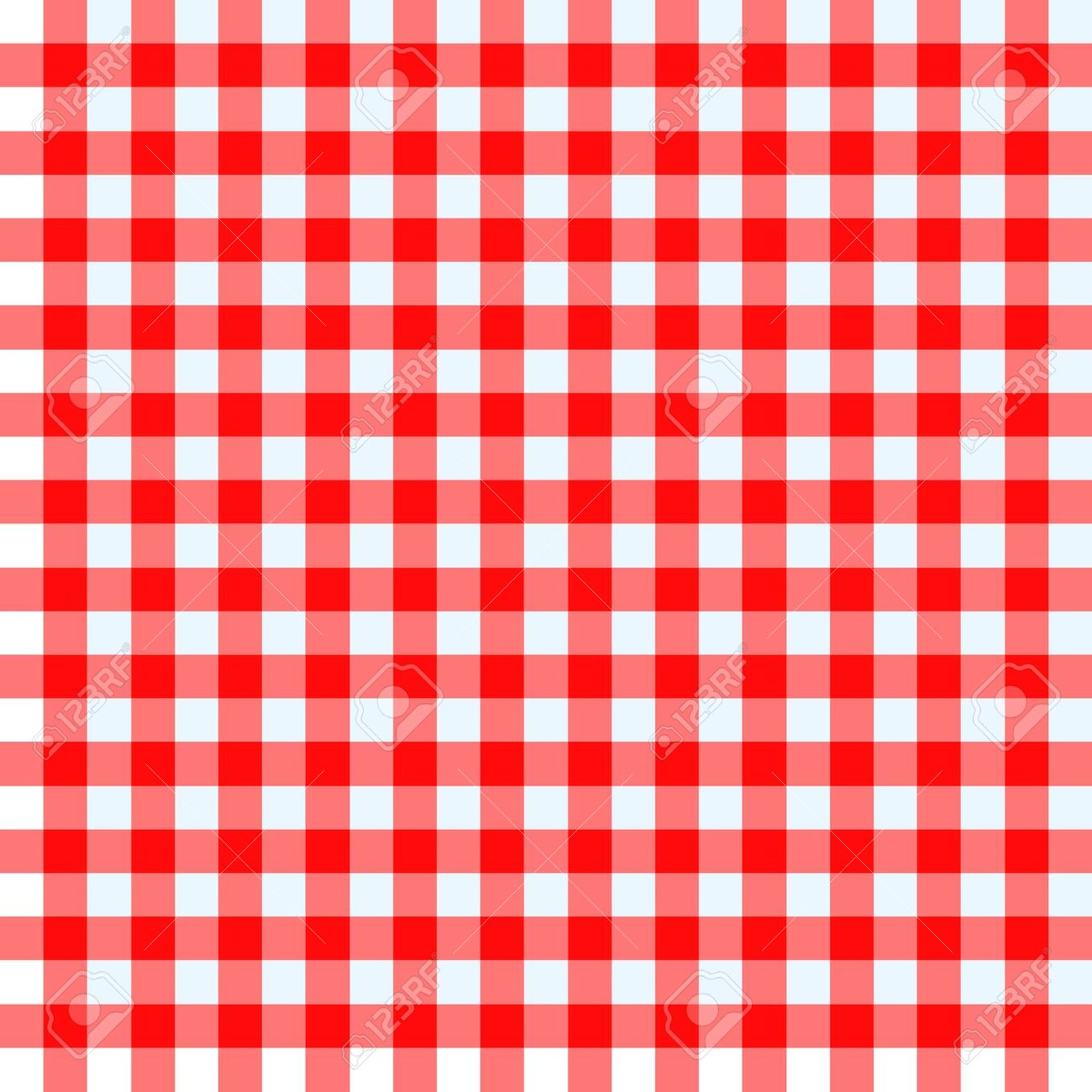 Red And White Checked Tablecloth Royalty Free Cliparts, Vectors.