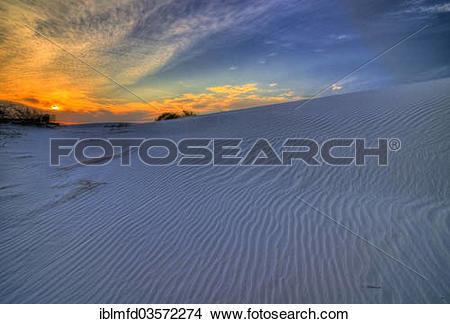 """Stock Photo of """"Gypsum dunes of Las Arenales in Cuatro Cienegas."""