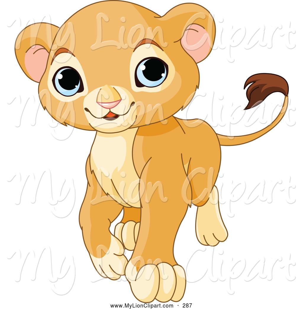 Clipart lion cub.
