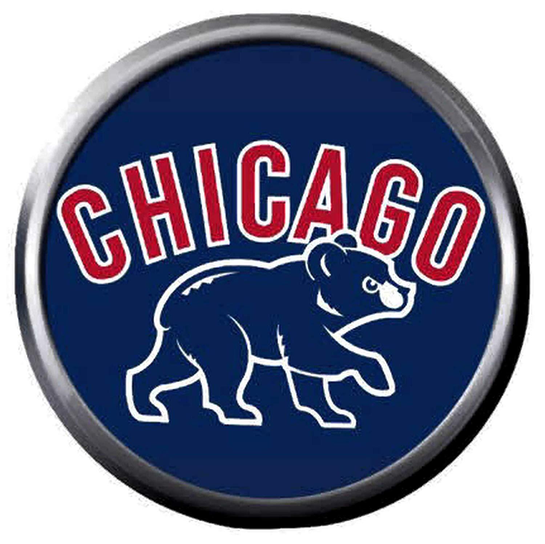Amazon.com: Bear Cub On Blue MLB Baseball Chicago Cubs Logo.