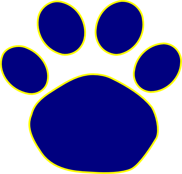 Jaguar Paw Print In Gold Clip Art Vector Online clipart.
