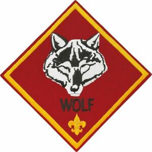 Details about BOY CUB SCOUT OFFICIAL WOLF RANK JUMBO EMBROIDERED JACKET  DISPLAY PATCH EMBLEM.