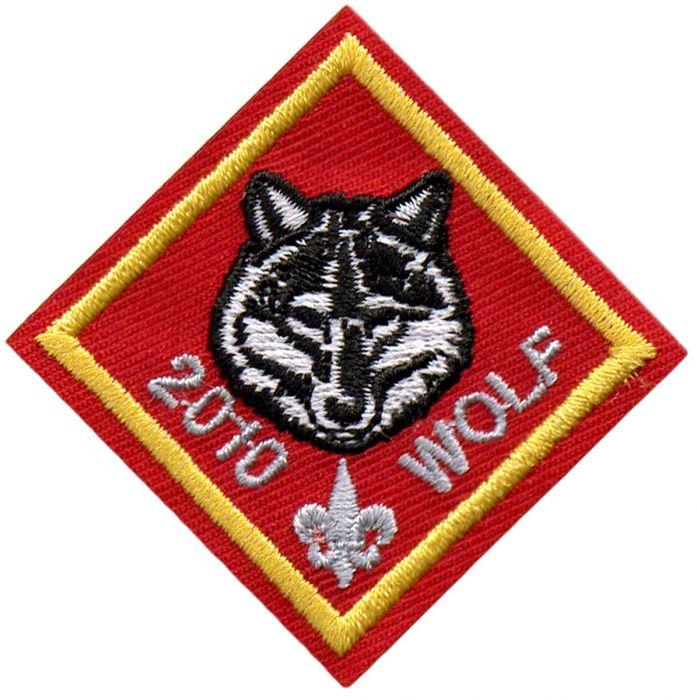 Cub Scout Wolf Rank Centennial Emblem.