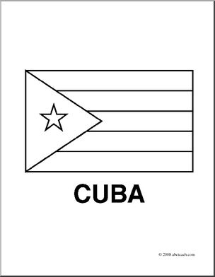 cuban flag coloring page - cuba black and white clipart clipground