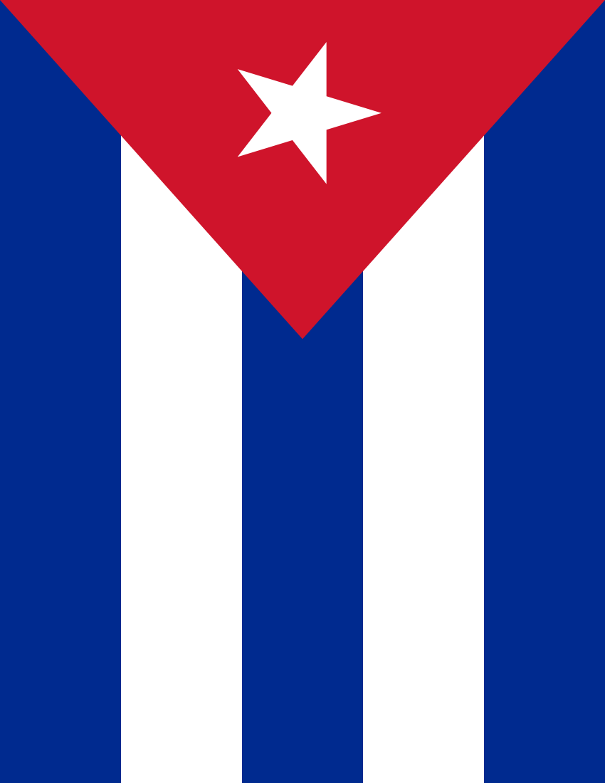 Cuban flag clipart.