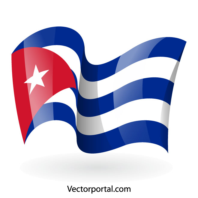 Cuban national flag.