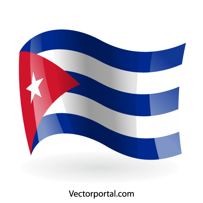 Flag of Cuba vector clip art.