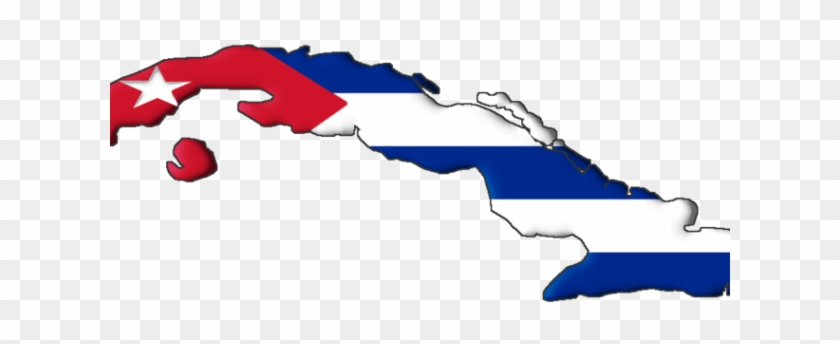 Flag Map Of Cuba.