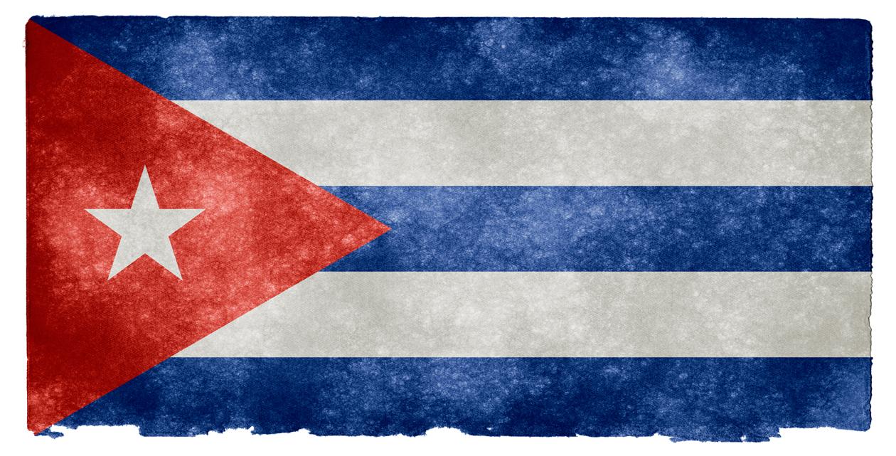 Cuba Grunge Flag PNG Image.