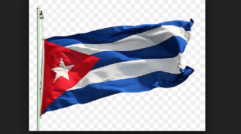 Cuban flag to hang in State Dep't lobby as embassies reopen.