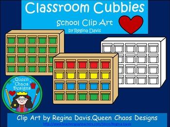 A+ Clip Art: Classroom Cubbies.