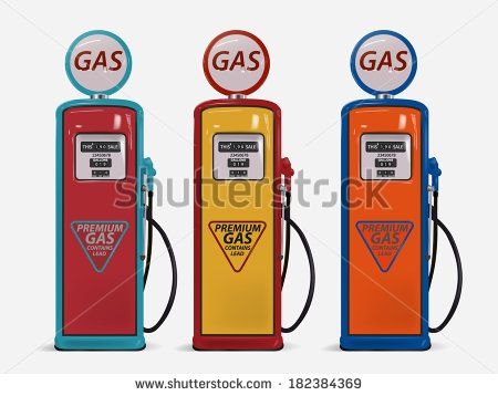 Image result for old fashioned gas pump clipart.