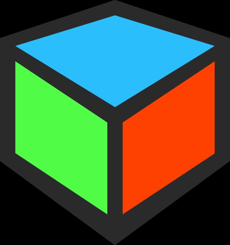 3d cube clipart.