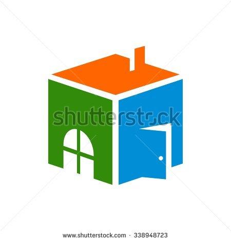 Cube House Stock Photos, Royalty.