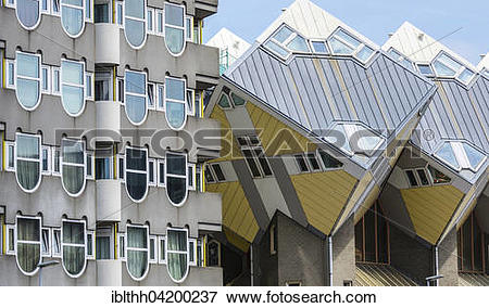 Picture of Cube shaped houses, architect Piet Bloom, Blaak.