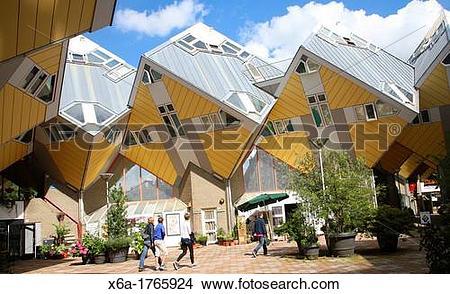 Stock Photo of Kubuswoning Cube Houses, Blaak, Rotterdam.