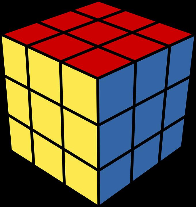 Rubik's Cube PNG Image.