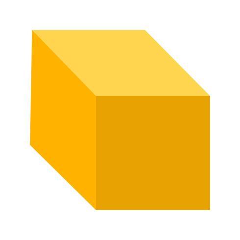 Cube Vector Icon.