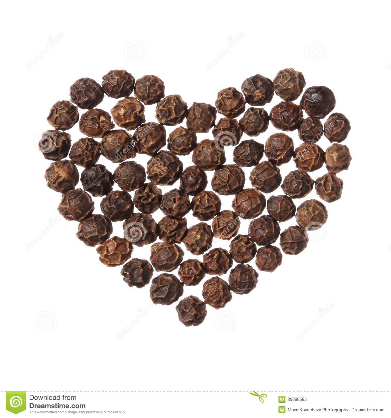 Pepper heart clipart.