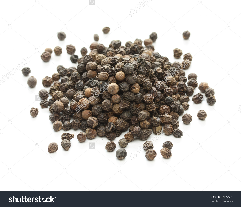 Black Pepper Black Peppercorn Indian Spice Stock Photo 72124501.