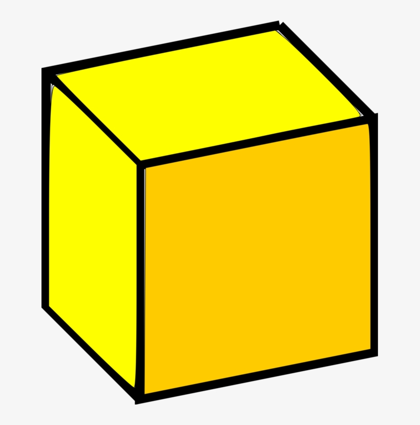 Cube clipart yellow cube, Cube yellow cube Transparent FREE.