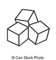 Sugar cubes clipart.