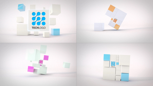 Clean Dynamic Cubes Logo Reveals.