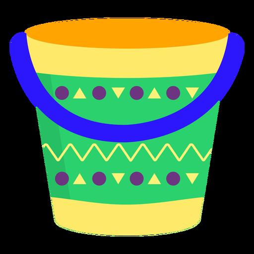 Bucket pattern flat.