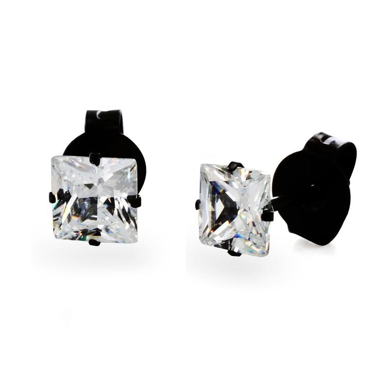 Stainless Steel 3 mm Cubic Zirconia Stud Earrings Ov 6237768.