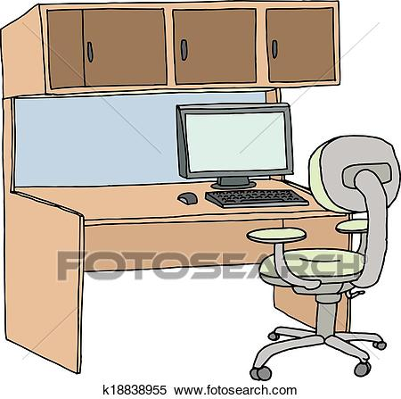 Isolated Cubicle Clipart.