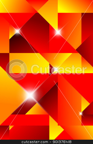 Cubism abstract background stock vector.