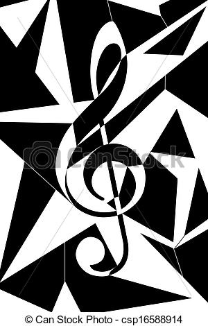 Clipart of Abstract musical key illustration.