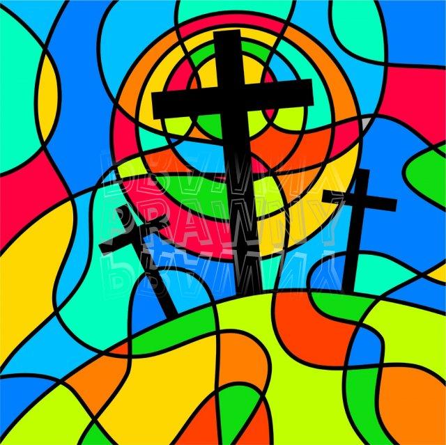 Christian cubist clip art.